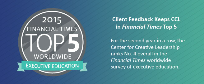 Client Feedback Keeps CCL in Financial Times Top 5