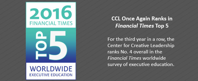 CCL Earns Third Straight Top 5 Ranking from Financial Times