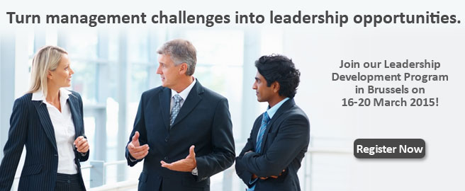 Join our Leadership Development Program in Brussels on January 26-30 2015!