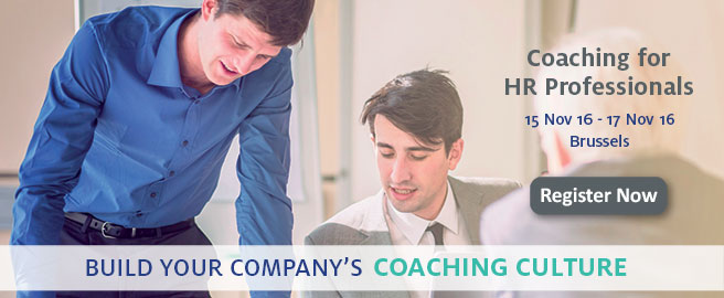 Join our Coaching for HR Professionals program in Brussels on 14-16 January 2015!
